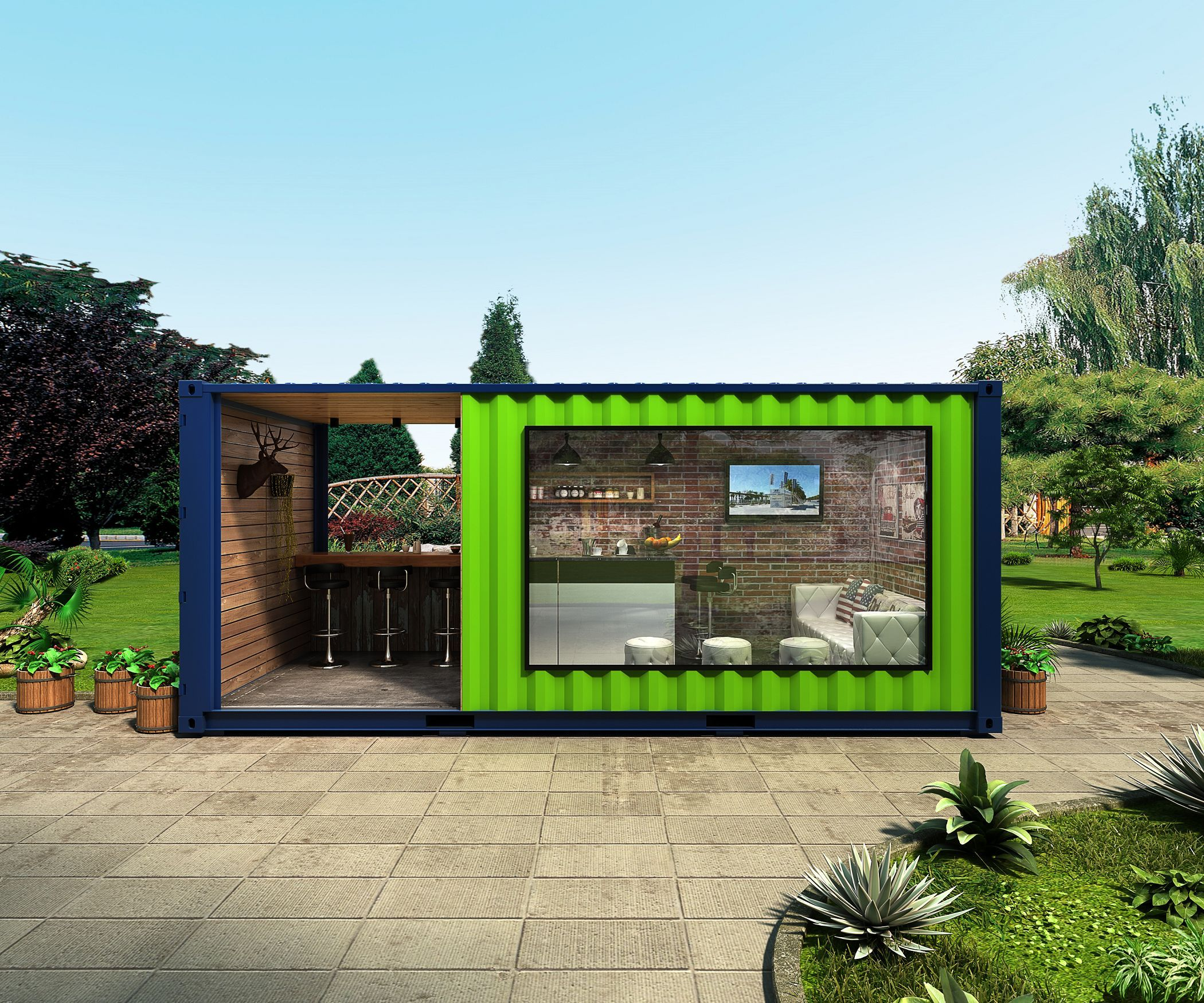 20ft shipping container coffee shop container store