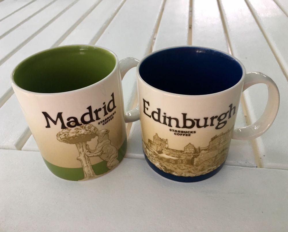 Starbucks Madrid Edinburgh Coffee Mugs Global Icon City Collector