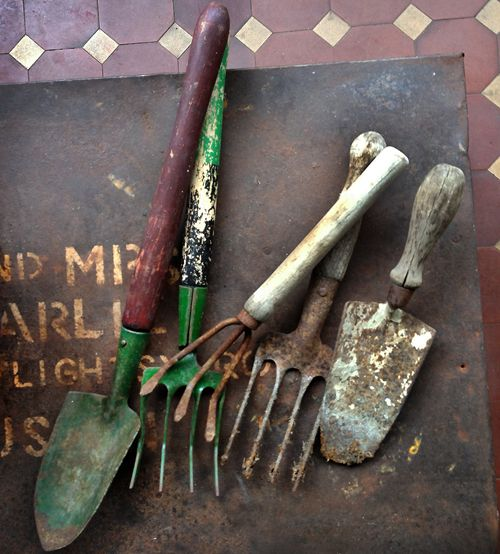 Rusted Gardening Tools Patina Pinterest Gardens Gardening Tools And Garden Junk