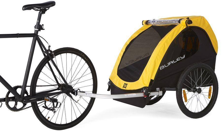 Details About Burley Bee Compact Fold Bike Bicycle Trailer Wagon