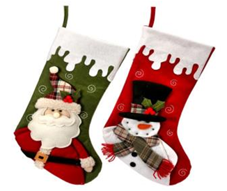 3 Sets Pine Tree Stocking Felt Applique Kit DIY Felt Material Christmas Gift