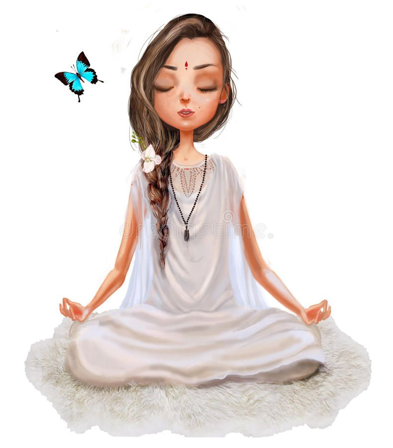 Cute Cartoon Yoga Girl Cute Cartoon Girl In Yoga Lotus Pose Ad Yoga Cartoon Cute Pose Lotus Ad Yoga Illustration Cute Cartoon Girl Yoga Girl