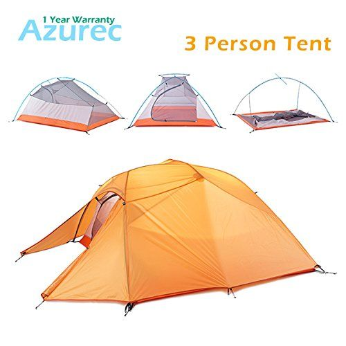 Azurec 1-2-3 Person 4 Season Lightweight Waterproof Double Layer Backpacking Tent for  sc 1 st  Pinterest & Azurec 1-2-3 Person 4 Season Lightweight Waterproof Double Layer ...