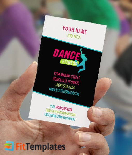 Fittemplates Com Domain For Sale Business Card Template Dance Class Business