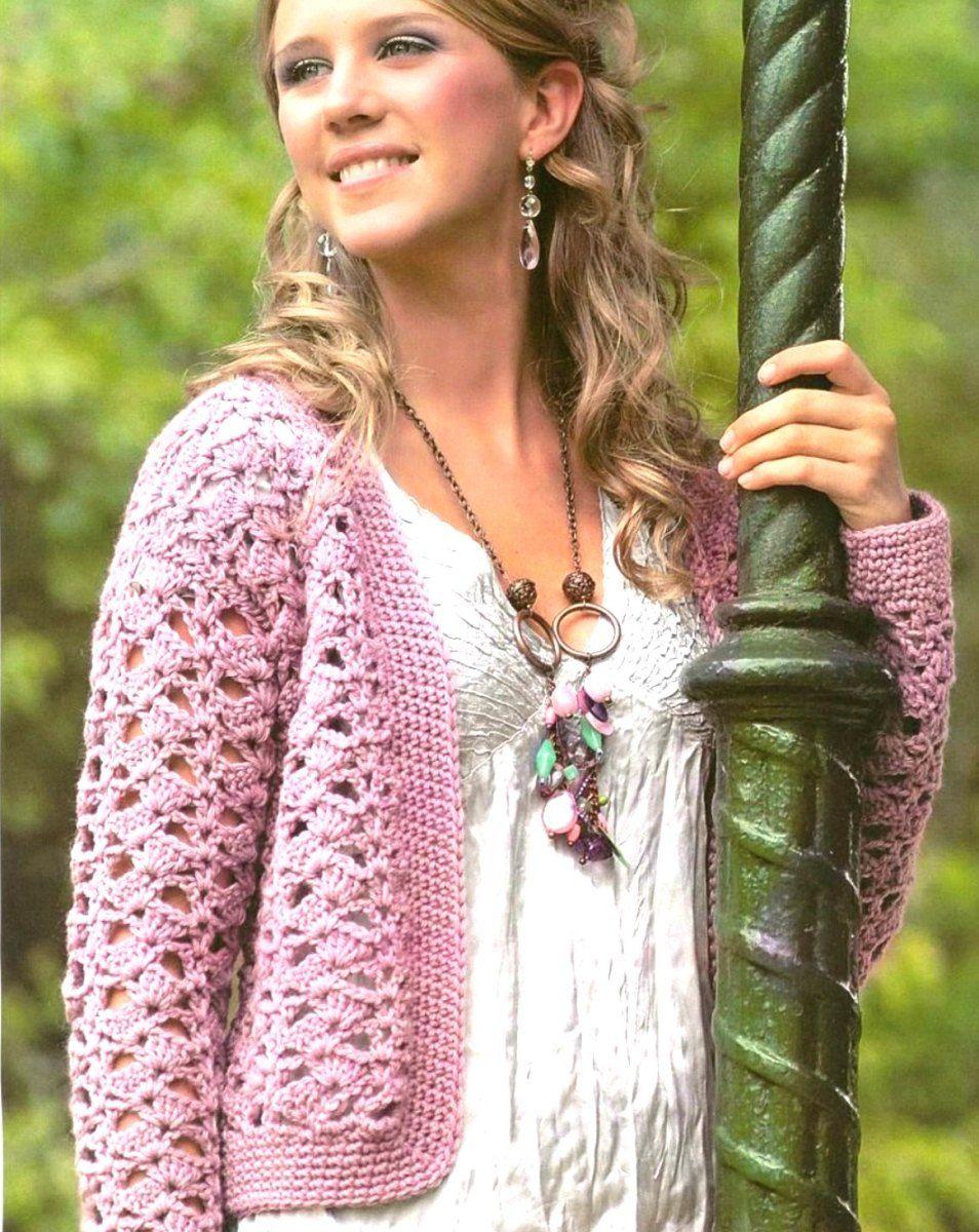 Crochet Jacket Free Pattern Crochet Cardigans Pinterest