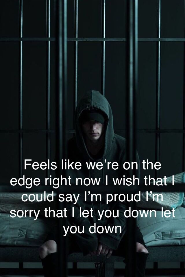 NF - Let You Down | Favorite Music Artists | Pinterest | Songs ...