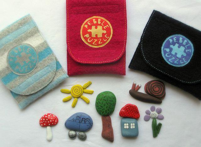 Pebble puzzles! cute!