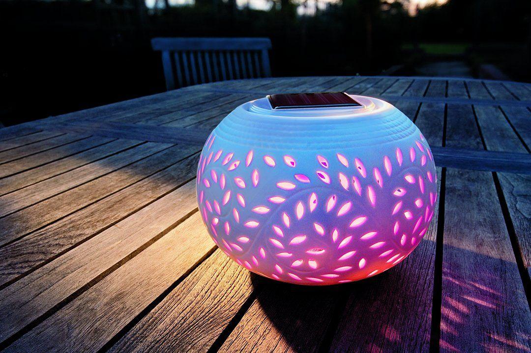 Colour Changing Led Garden Solar Filigree Table Light Amazon Co Uk Lighting Nacht Gute Nacht