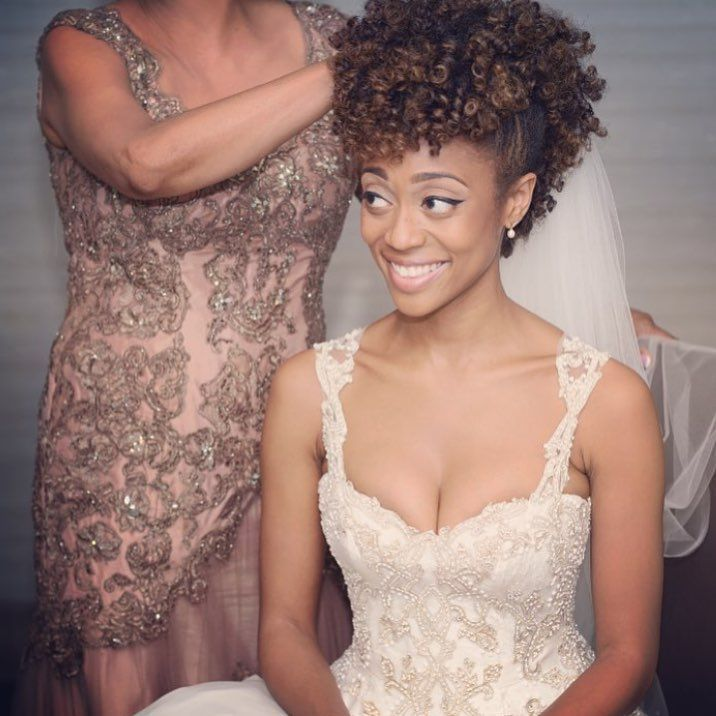 Black Natural Hairstyles For A Wedding : Flower crown and curly hair a tea party fit for two ~ wedding