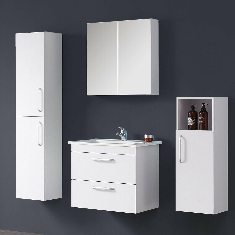 Details Zu Badmobel Set 60 Cm Waschtisch Unterschrank Spiegelschrank Hoch Und Midischrank In 2020 Spiegelschrank Unterschrank Midischrank