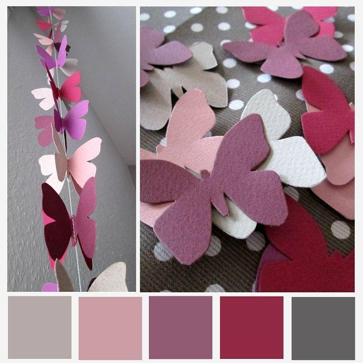 Guirlande Papillons Kleurpalet Pinterest Papillons Scrap And Origami