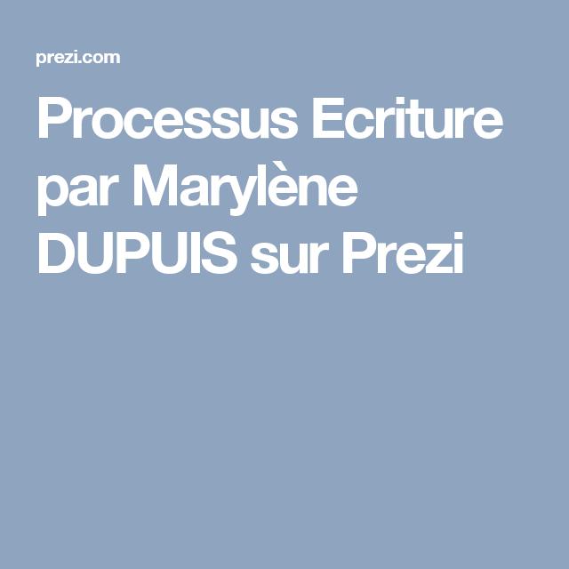 Processus Ecriture par Marylène DUPUIS sur Prezi