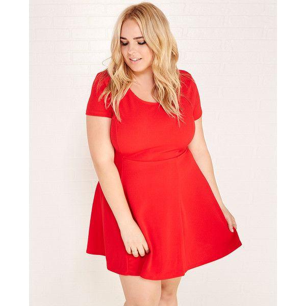 Ambiance Apparel Classic Textured Skater Dress ($20 ...
