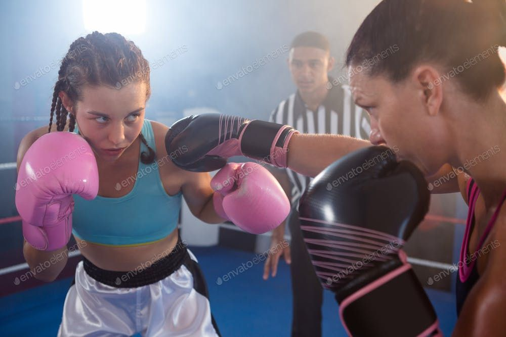 Female Boxers Fighting In Ring By Wavebreakmedia S Photos Ad Ad Boxers Female Ring Fighting Female Boxers Female Boxer