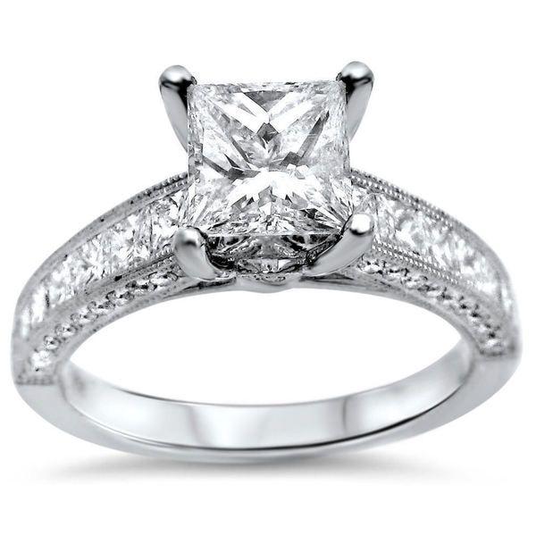 Noori 18k White Gold 2 1/6ct Princess-cut Diamond Engagement Ring (G-H, SI1-SI2)