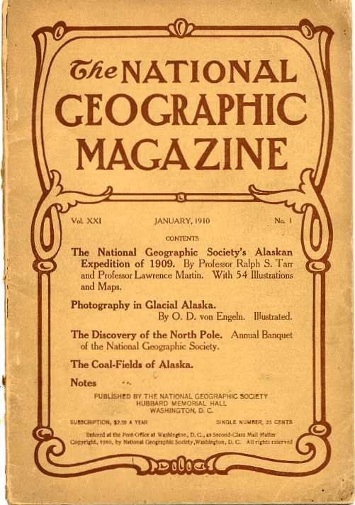 National Geographic January 1910 Back Issue - Magazines and