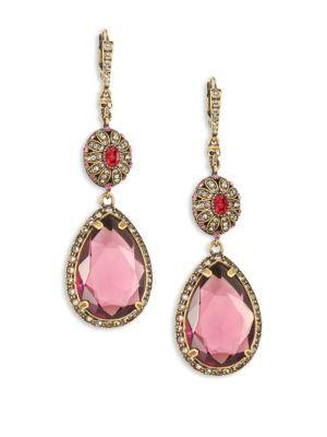 dbdb4d634 ALEXANDER MCQUEEN Crystal Double-Drop Earrings. #alexandermcqueen #earrings