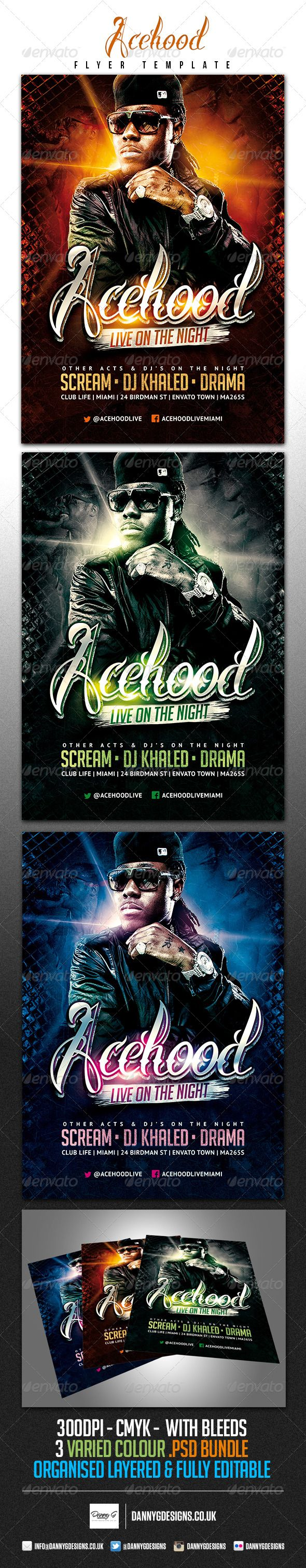 Psd Acehood Rap Hip Hop Flyer Template  Only Available Here