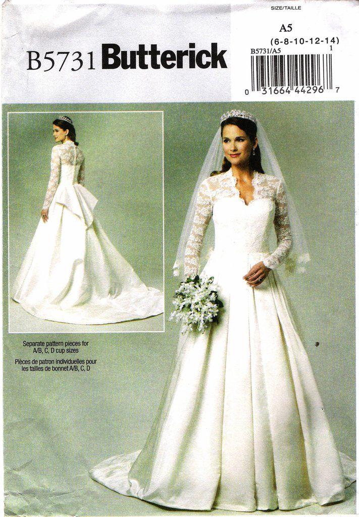 Butterick 5731 Misses\' Wedding Dress | Wedding dress sewing patterns ...