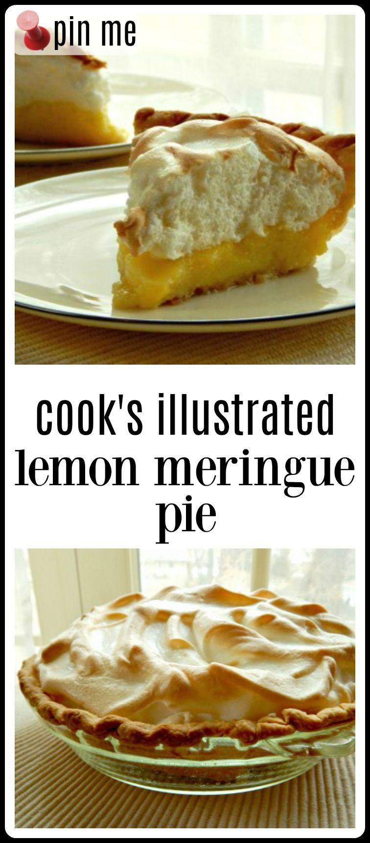 Lemon Meringue Pie - Cook's Illustrated Version #lemonmeringuepie