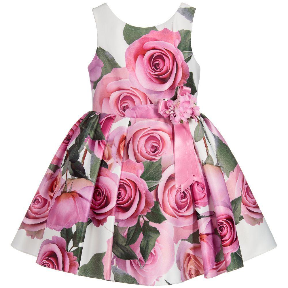 f2193198ce64 Ivory   Pink Floral Dress
