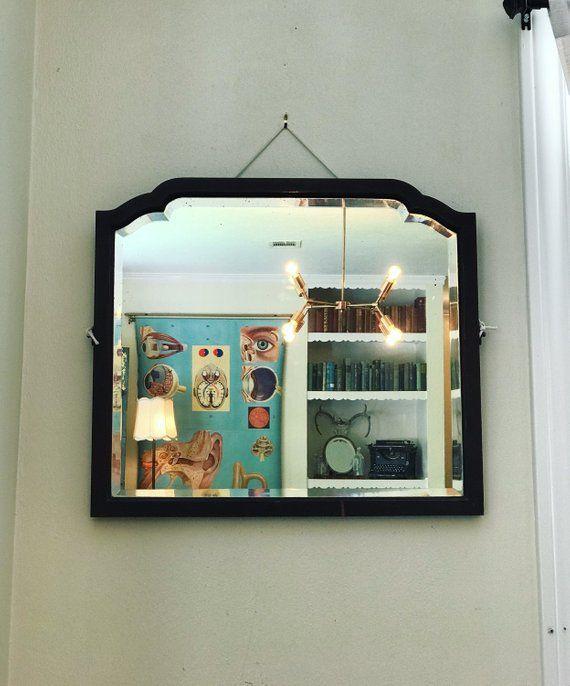 Black Framed Mirror Large Antique Mirror Black Mirror Frame Antique Mirror Art Deco Mirror