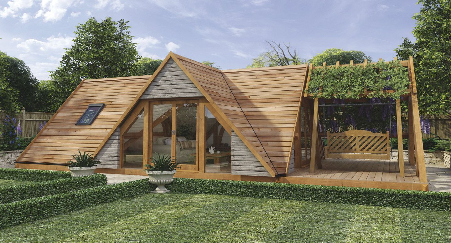 L shaped house garden design decor23 for Timber garden rooms