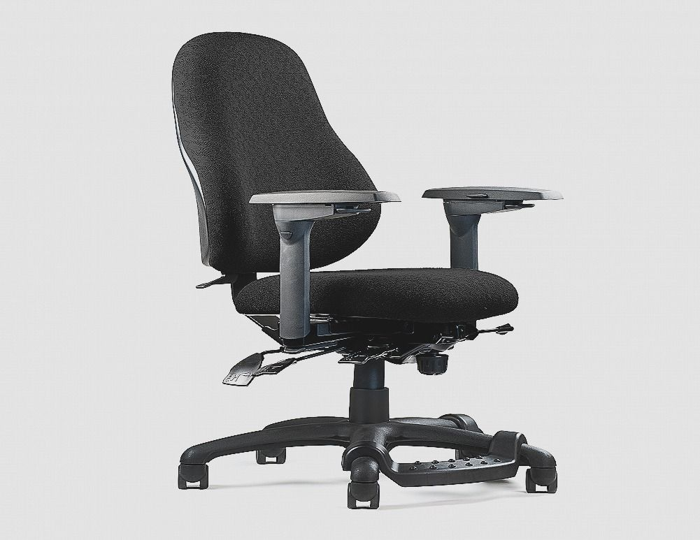 Fresh ergonomic office chair with footrest teal chair