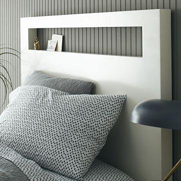 Tall Wood Cutout Headboard White White Headboard Simple Bed Frame Yellow Headboard