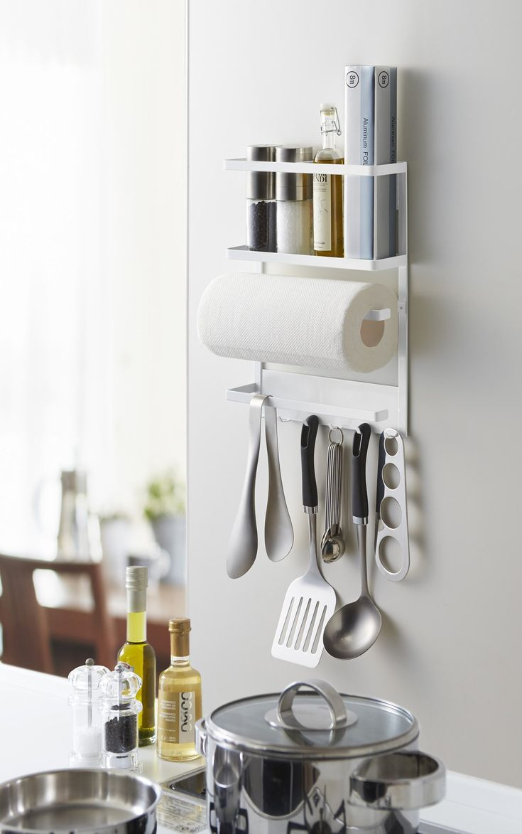 Plate Magnetic Kitchen Organization Rack in White design by ...