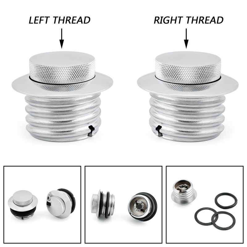 Mad Hornets Flush Pop Up Screw In Fuel Gas Cap Cover Set Harley Davidson 82 Up Stock Style Vented Screw In Cap Chr Fuel Gas Sportster Chopper Harley Davidson