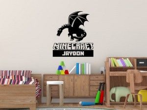 Minecraft Ender Dragon Wall Decal Gamers Decor Pinterest - Custom vinyl wall decals dragon