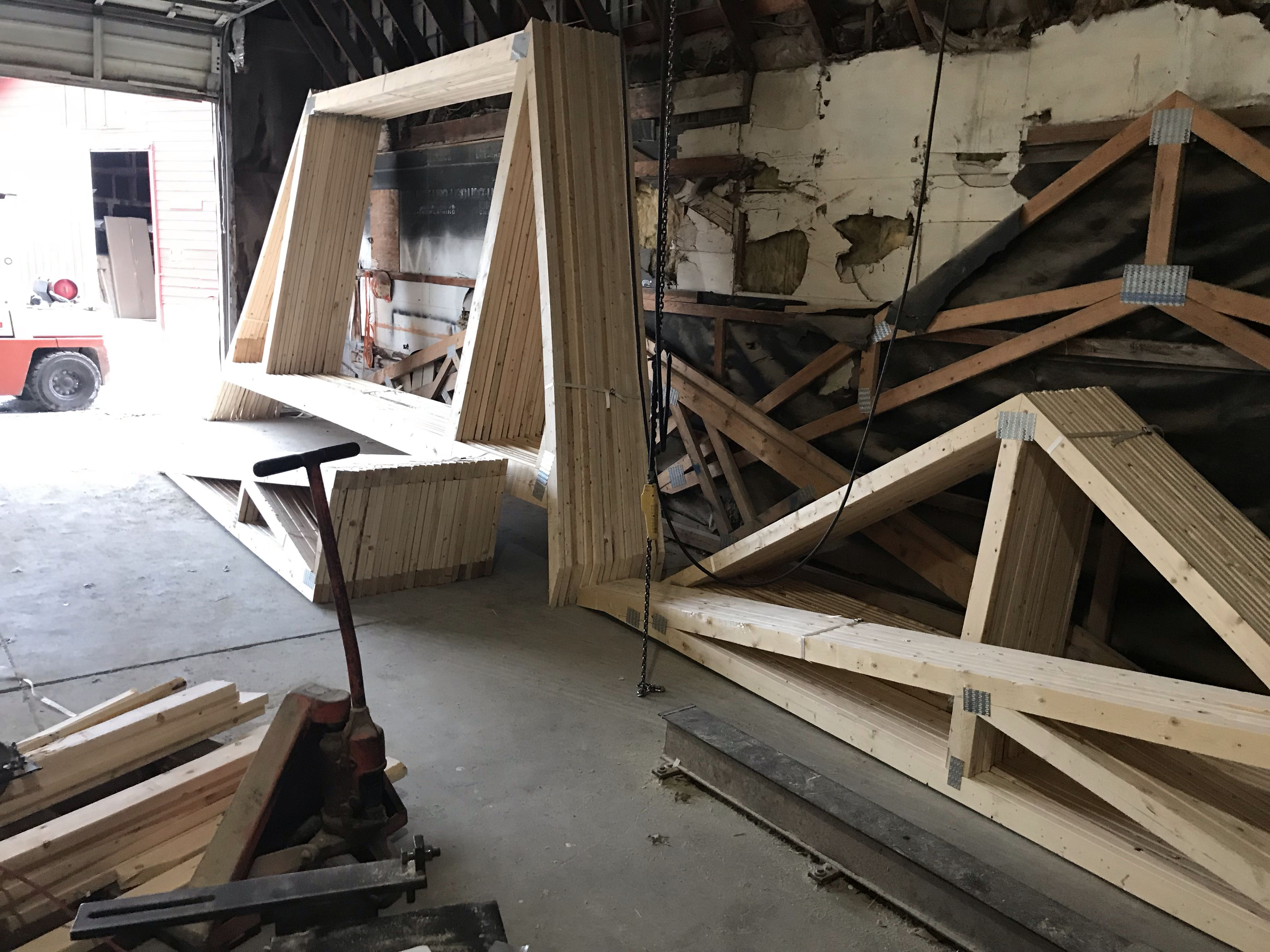 Attic trusses post frame building attic truss lumber