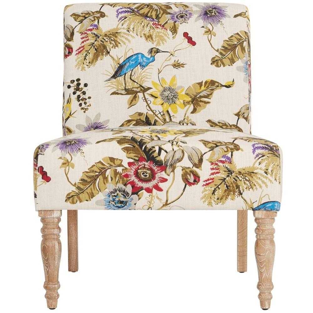angelo:HOME Bradstreet Antique Floral Bird Armless Chair | Overstock ...