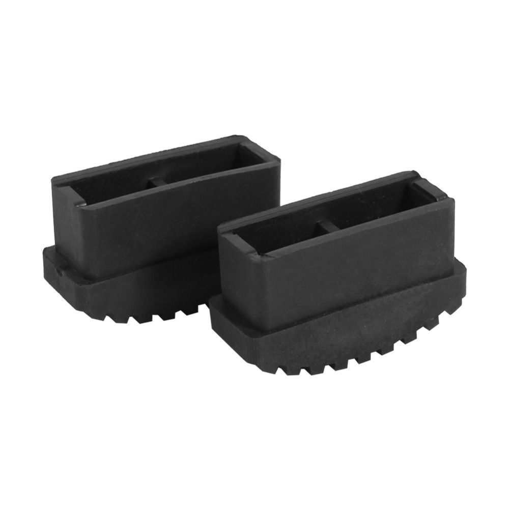 2Pcs/Lot Rubber Non Slip Replacement Step Ladder Feet Foot Mat Cushion Sole Black