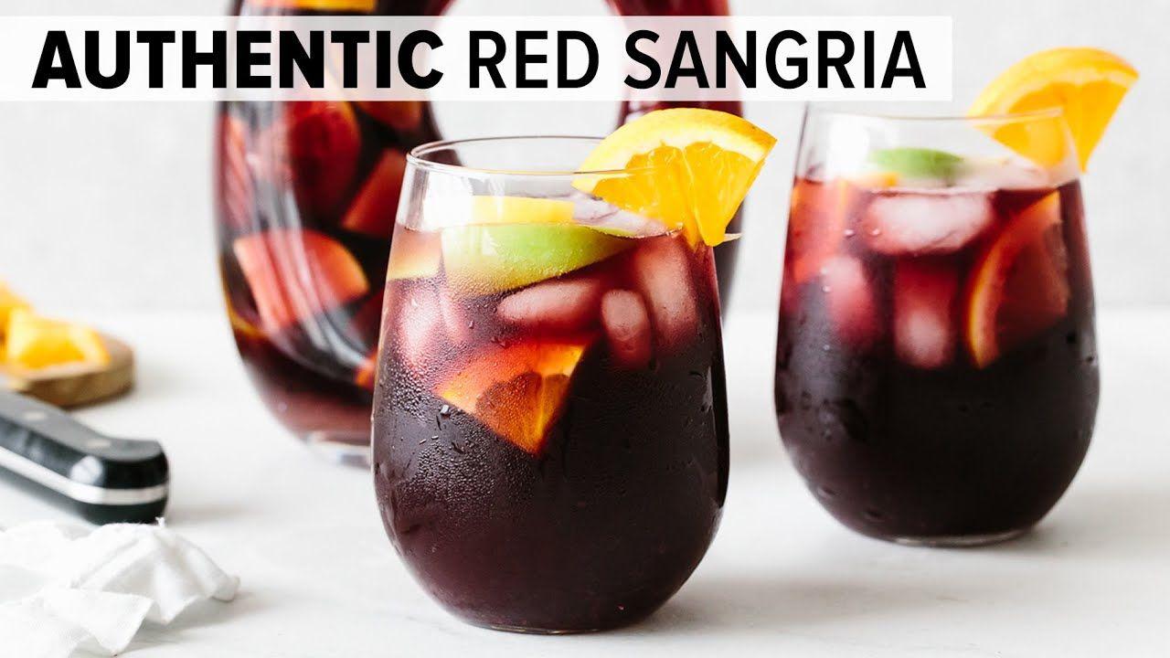 Sangria Recipe Easy Authentic Red Sangria Youtube In 2020 Sangria Recipes Red Sangria Recipes Easy Sangria Recipes