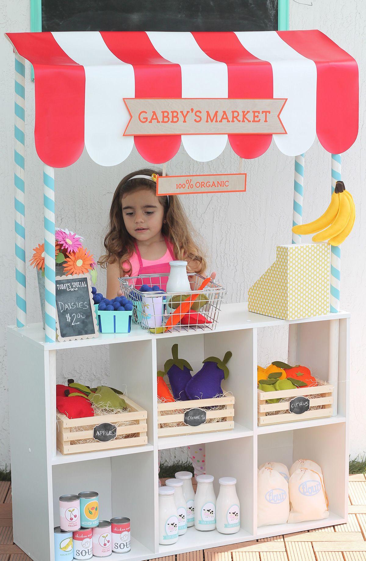 Repurposed Bookshelf Ideas Play Market Pretend Play And