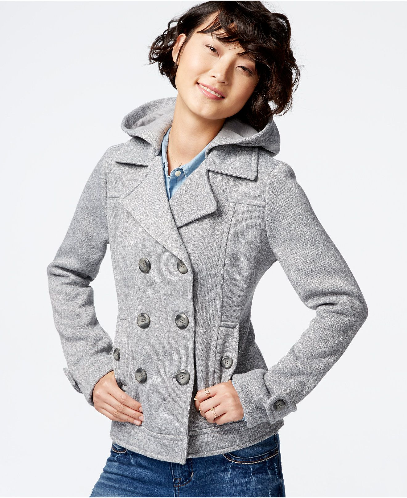 Sebby Hooded Peacoat - Coats - Women - Macy's