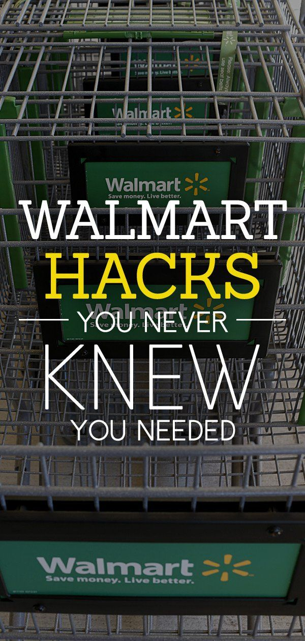 Here\'s How to Hack Walmart and Save Money | Pinterest