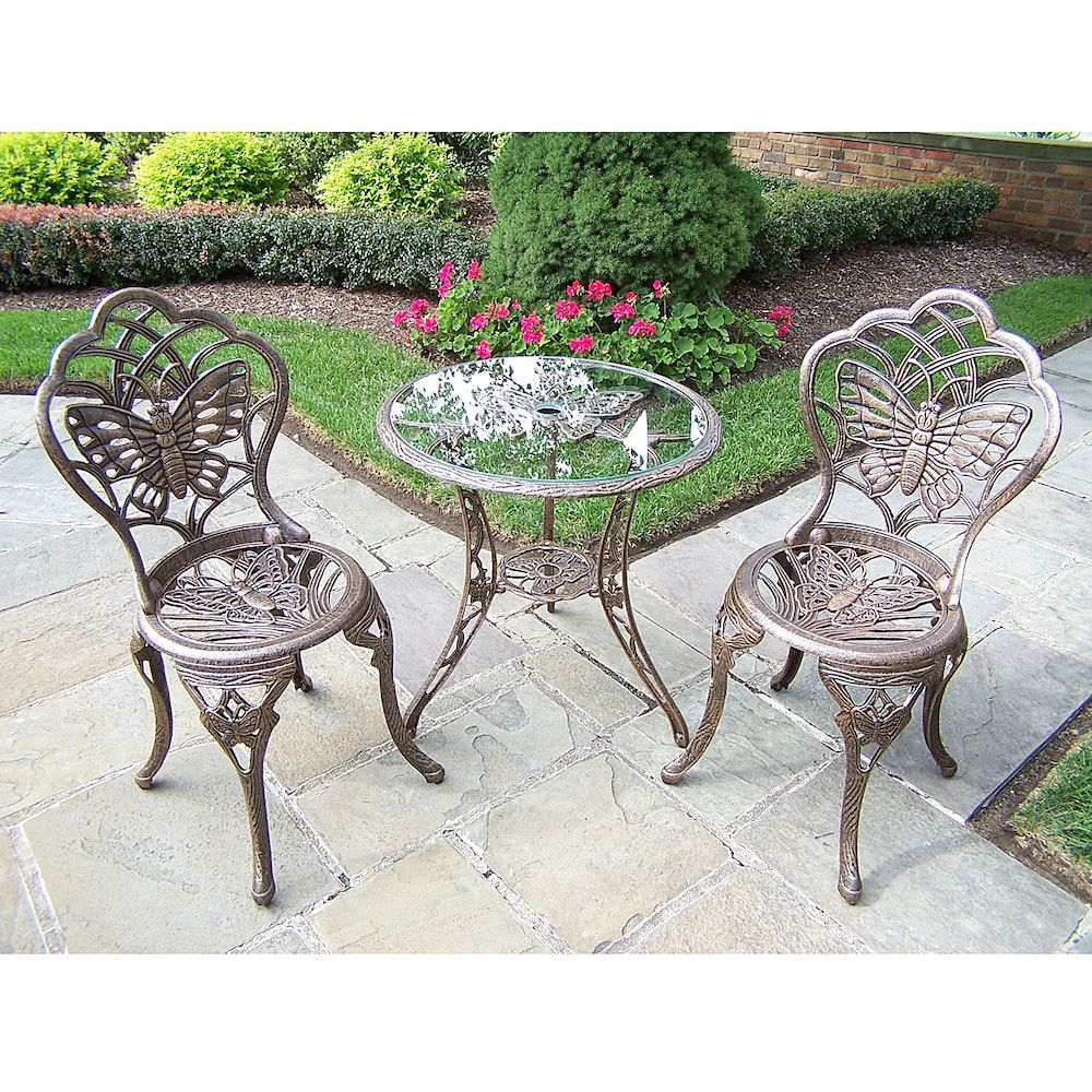 Oakland Living 3-pc. Butterfly Bistro Set | 3 piece bistro ... on Oakland Living Bistro Set id=85756