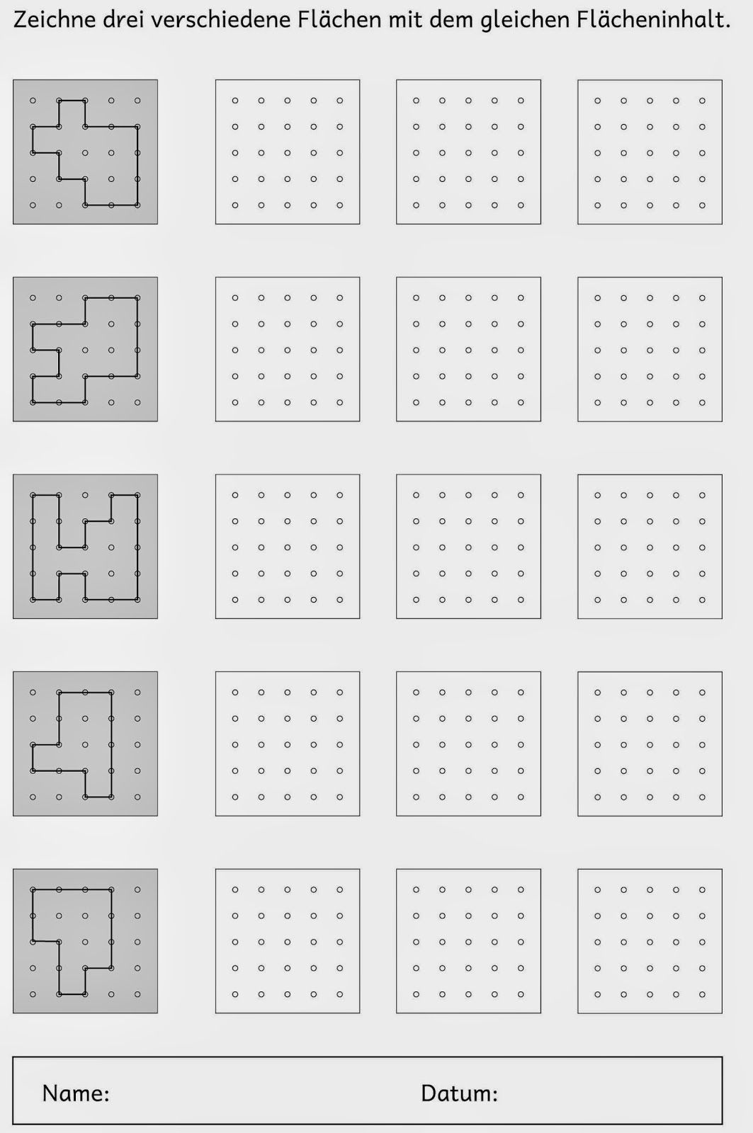 Flächeninhalt zeichnen   Flächeninhalt, Zeichnen und Mathe
