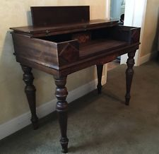 Antique Spinet Desk And Chair Early 1900 S