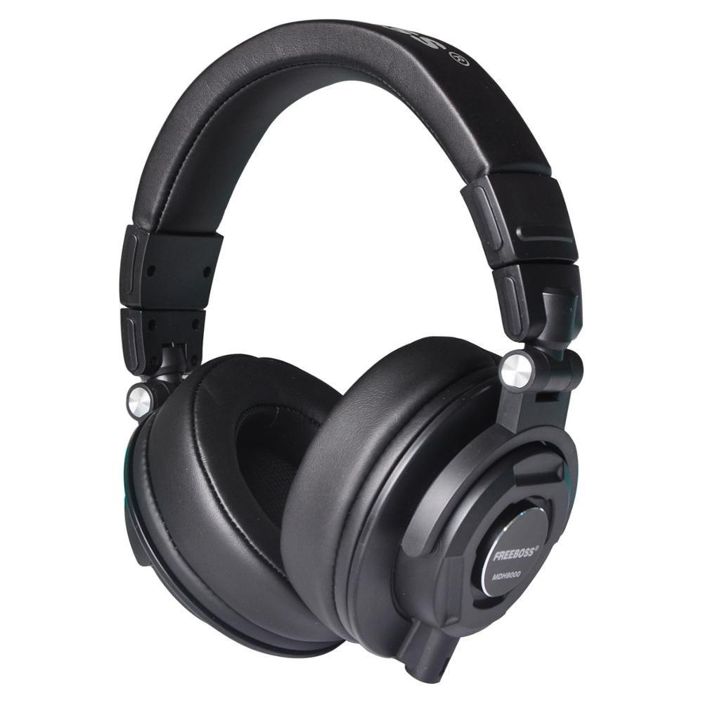 Freeboss Mdh9000 Monitor Headphones With 50mm Drivers Single Side Detachable Cable 3 5mm Plug 6 35mm Adapter Affiliat Headphones Headphones Art Headset Holder