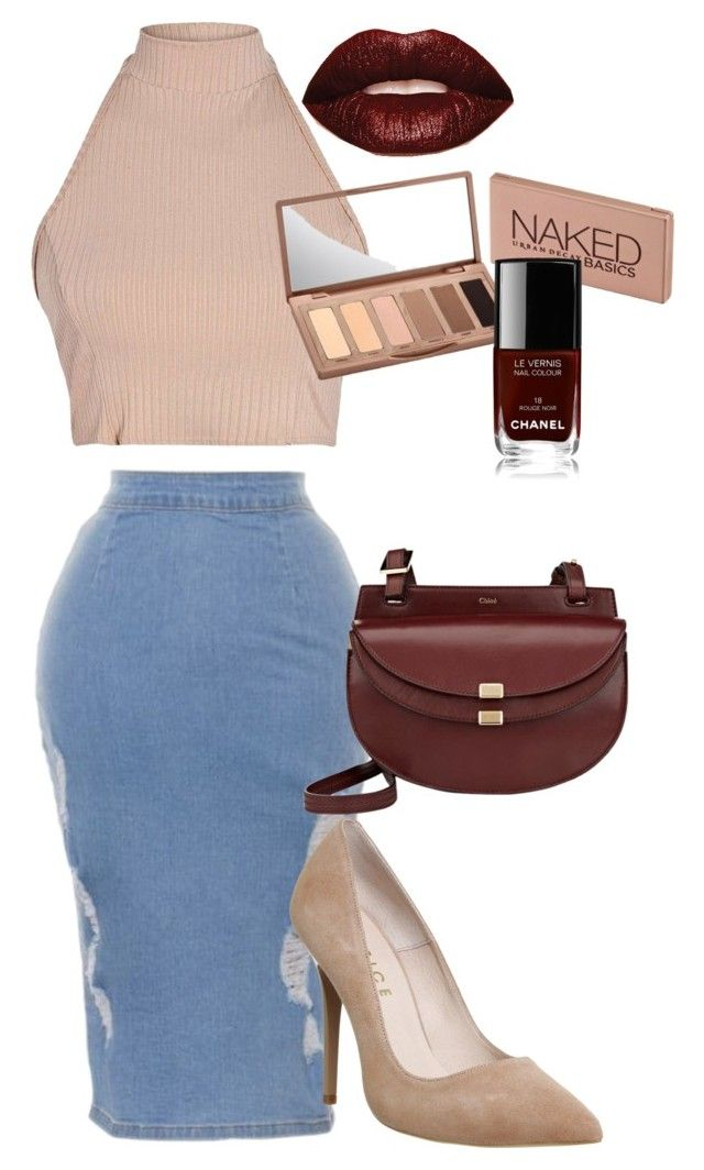 """Untitled #27"" by trillqueen34 on Polyvore featuring Boohoo, Office, Urban Decay, Chloé, Chanel, Smashbox, women's clothing, women, female and woman"