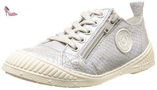 Pataugas Rocky J2B, Sneakers Basses Garçon, Rouge, 30 EU