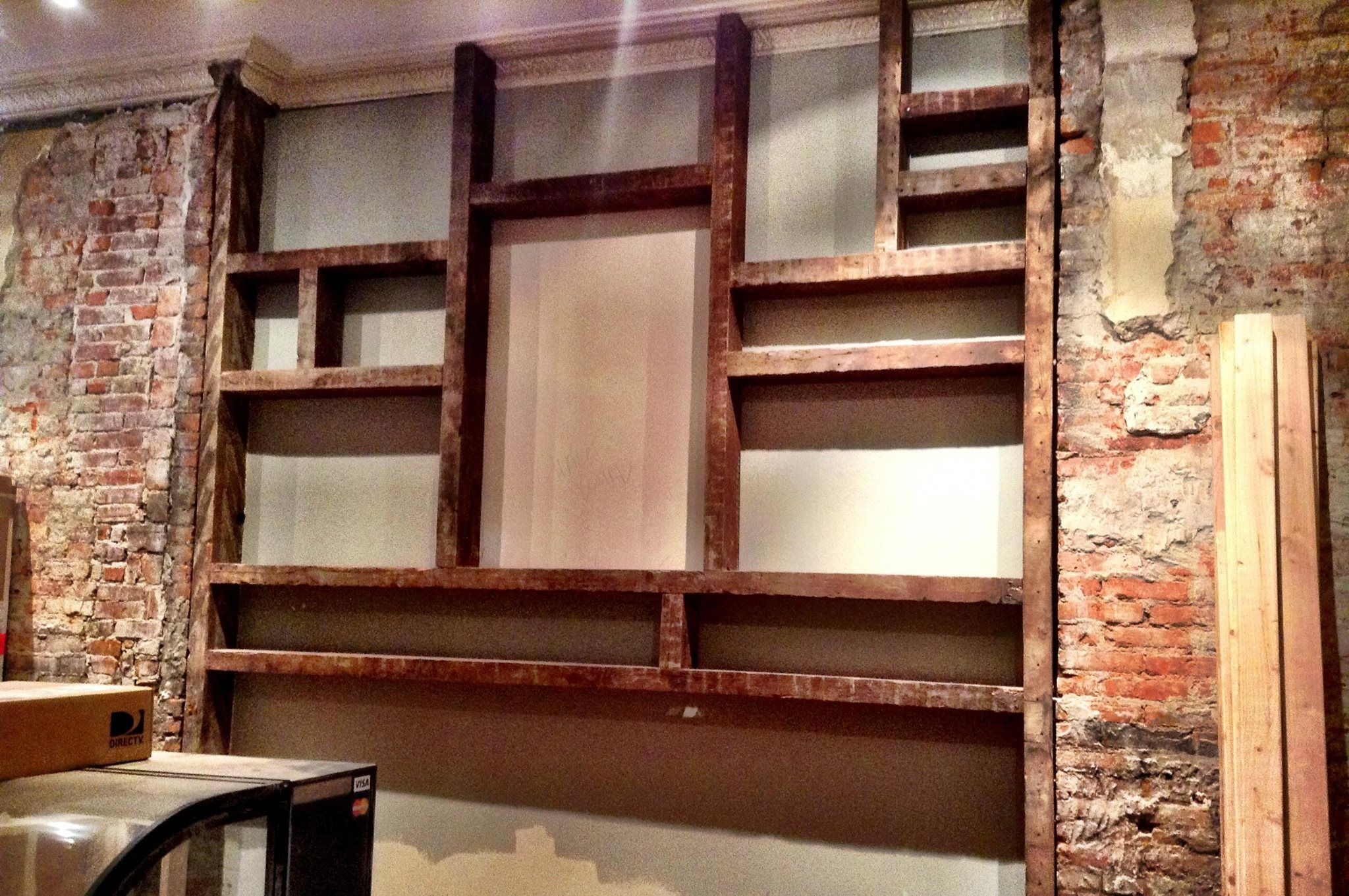 Custom Built Shelves From Reclaimed Wood For The Great Room Book
