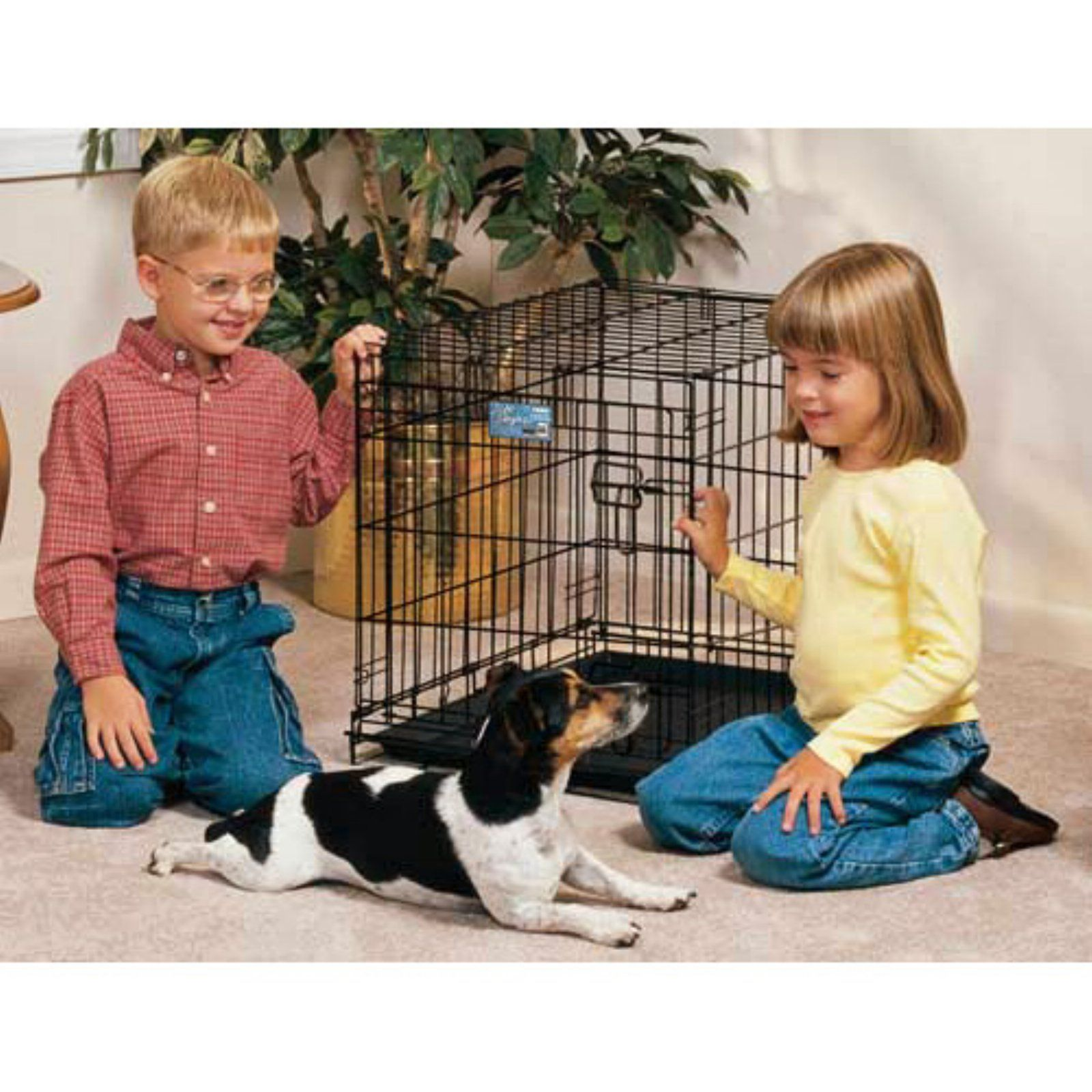 Midwest Homes For Pets Life Stages Folding Single Door Metal Dog