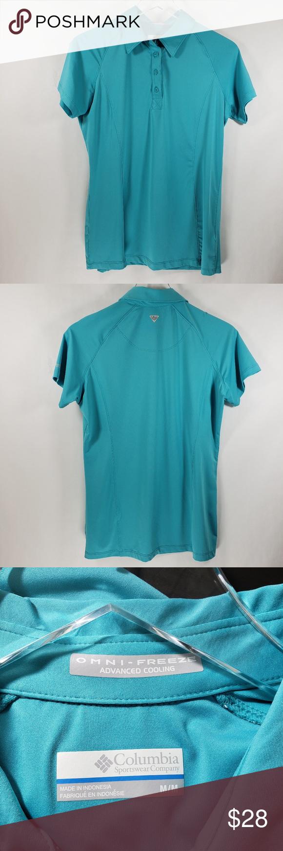 Columbia Pfg Omni Freeze Advanced Cooling Shirt Cool Shirts