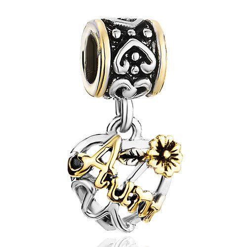 Pugster-Silver-Flower-Heart-Dangle-Love-Autism-Charm-European-Bead-Bracelet-A25