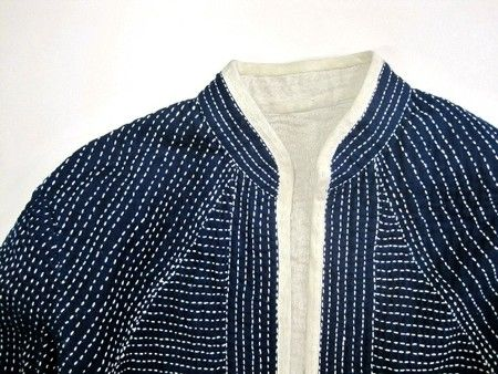 iro iro sashiko jacket. I think this isnt menswear but i just love tiny rustic dots, could be translated into a really handsome menswear garment.